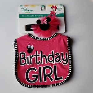 Disney minnie mouse bib set
